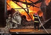 آتش سوزی کارخانه اکریلتاب -بهشهر