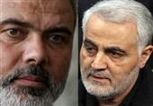 تماس تلفنی رئیس دفتر سیاسی حماس با سرلشکر سلیمانی