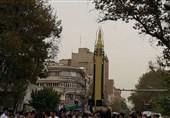 نمایش «موشک بالستیک قدر» در راهپیمایی 13 آبان + تصاویر
