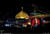 حرم مطهر امامین عسکریین(ع) با سنگهای ایرانی مفروش شد + تصاویر