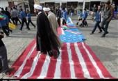 راهپیمایی باشکوه 13 آبان در سراسر استان زنجان آغاز شد