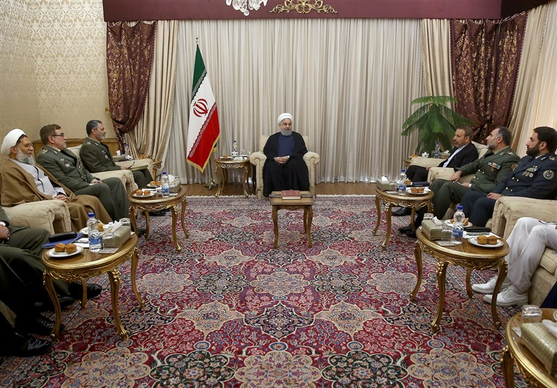 President Vows Continued Support for Iranian Armed Forces