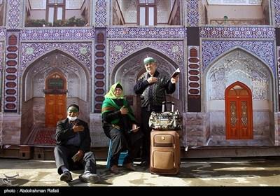 سفر عشق اربعین؛ زائرین مہرن بارڈر سے نینوا کی جانب رواں دواں