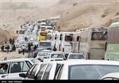 اربعین 98| ترافیک در مرز مهران شدت گرفته است