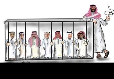 کاریکاتیر/قهقهة بن سلمان بجانب القفص