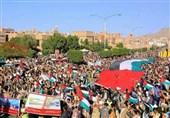 راهپیمایی گسترده یمنیها مقابل دفتر سازمان ملل در محکومیت محاصره ظالمانه عربستان