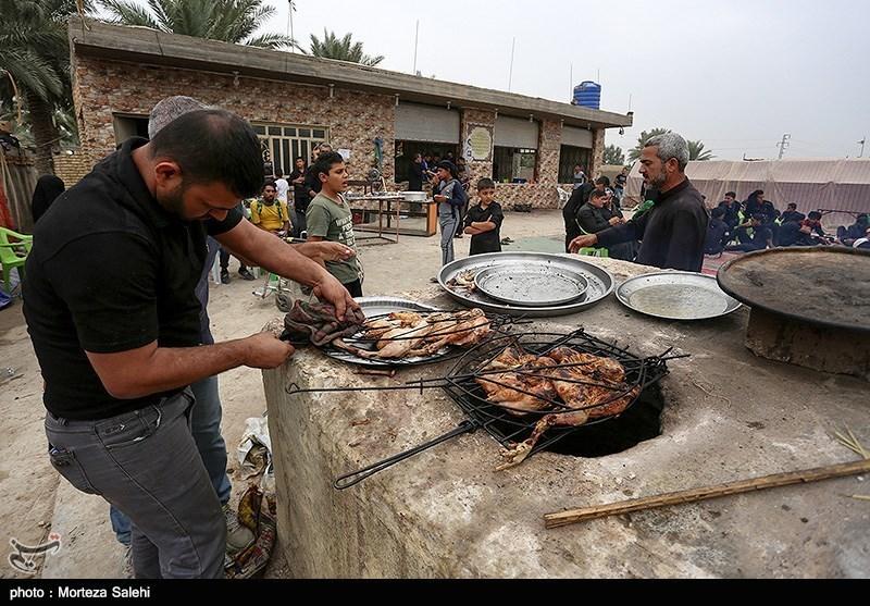طبخ و توزیع ۶۰ هزار وعده غذای گرم در مرز شلمچه