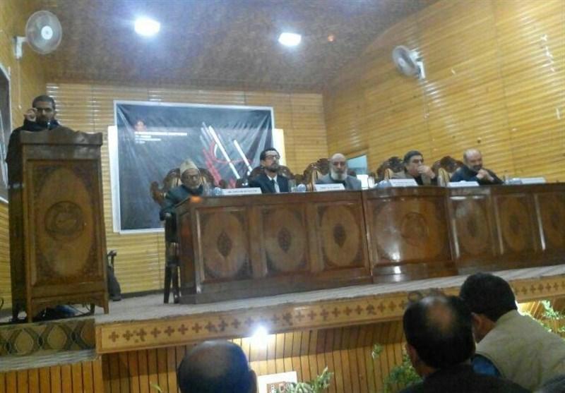 کشمیر یونیورسٹی کے گاندھی بھون آڈیٹوریم میں اقدار کربلا کے عنوان سے سیمنار + تصاویر
