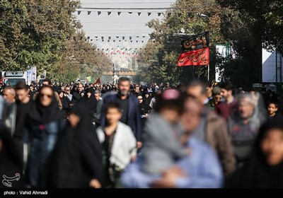 Massive Procession Staged in Tehran Streets on Arbaeen