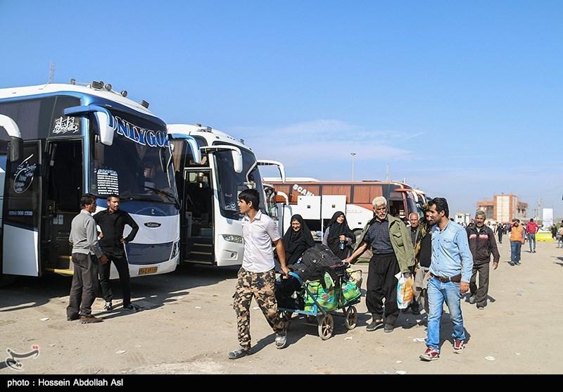 بازگشت زائران اربعین به کشور-مرزشلمچه
