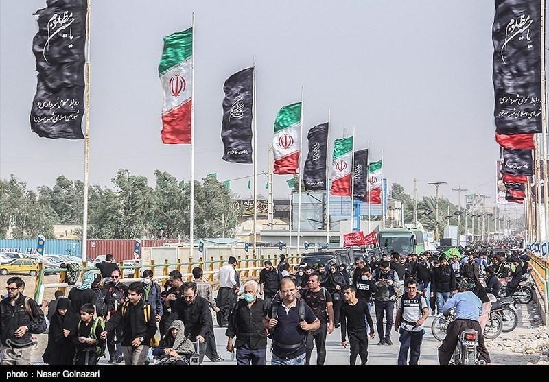 اربعین حسینی  گزارش تسنیم از آخرین وضعیت تردد زائران از مرز مهران به کربلای معلی+فیلم