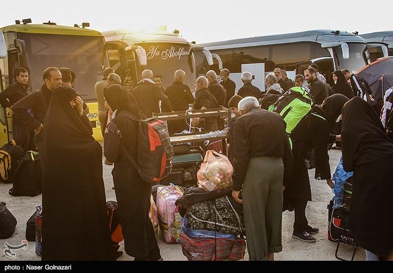 بازگشت زایران اربعین حسینی از مرز مهران