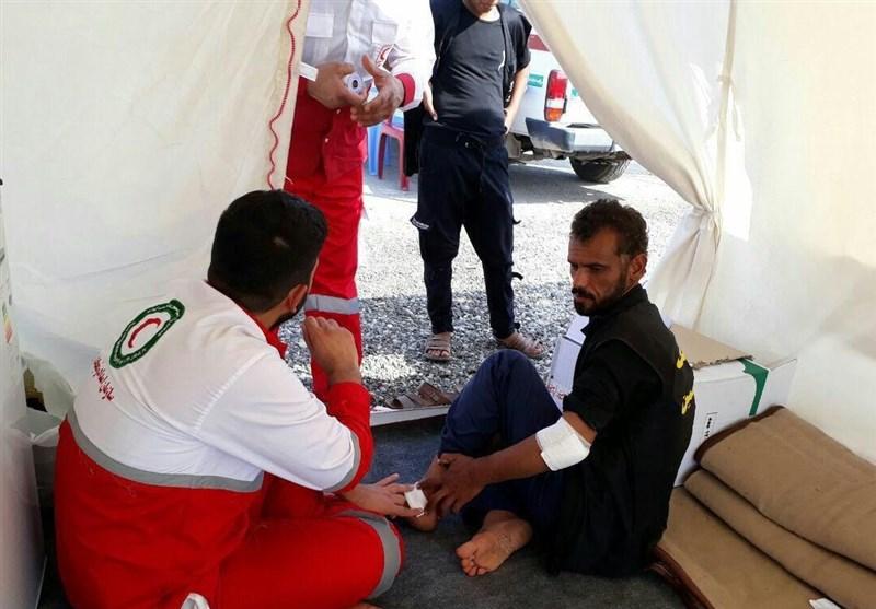 خدمترسانی نجاتگران هلال احمر دزفول به زائران اربعین