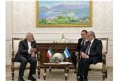 دیدار ظریف با همتای ازبکستانی