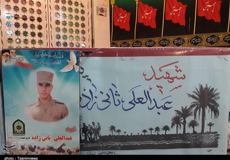 """پیکر مطهر سرباز شهید """"ثانیزاده"""" در شوشتر تشییع شد"""