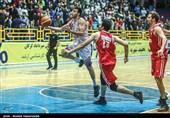 دیدار تیمهای بسکتبال شهرداری گرگان و مهام تهران