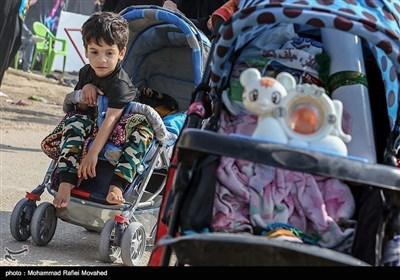 اربعین حسینی مارچ کے دوران بچوں سے لی گئی تصاویر