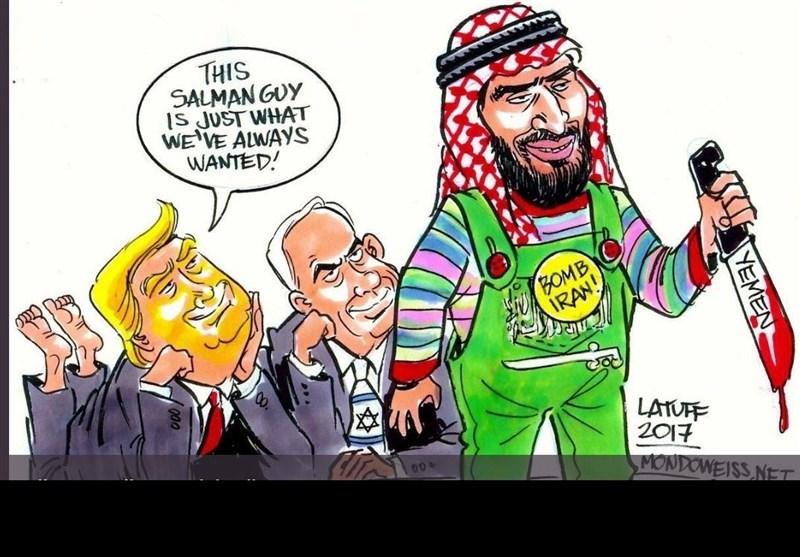 کاریکاتیر.. صبی ترامب المفضل!