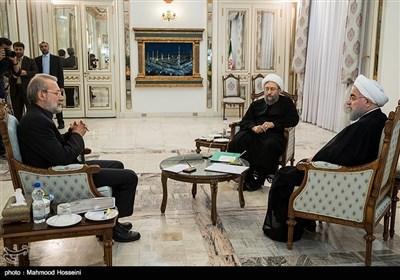 اجتماع مشترک لرؤساء السلطات الثلاث