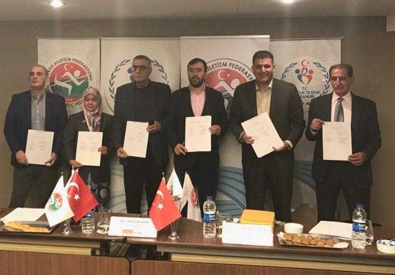 امضای توافقنامه روسای فدراسیونهای دوومیدانی کشورهای اسلامی