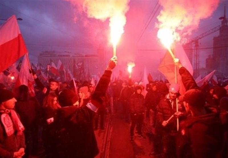 شعارهای نژادپرستان در تظاهرات 60 هزار نفری ورشو