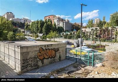 ابتدای تونل رسالت واقع در محله یوسف آباد تهران