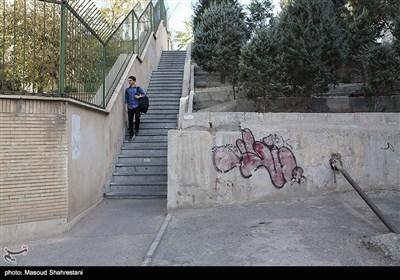 کوچه های خیابان جهان آرا در محله یوسف آباد تهران