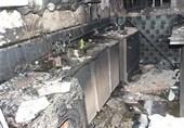 آتش خانه 3 طبقه را تبدیل به خاکستر کرد + تصاویر