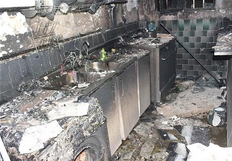 آتشسوزی خانه سه طبقه در شهرک علیآباد