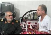 """دیدار فرمانده سپاه قدس گیلان با """"جانباز دریادل گیلانی"""" + تصاویر"""