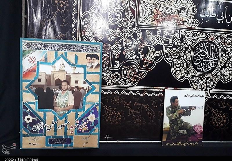 آیین بزرگداشت چهارمین سالگرد شهادت جوان دلیر شهید منصور مسلمیسواری از شهدای مدافع حرم خوزستان