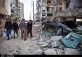مصدومان و جانباختگان زلزله در سرپلذهاب - کرمانشاه