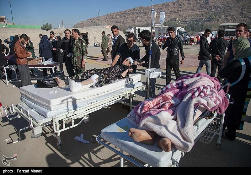 زلزله کرمانشاه| برپایی بیمارستان صحرایی ارتش در مناطق زلزله زده