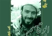 اذان روحانی شهید فاطمیون در خط مقدم دفاع از حرم+فیلم