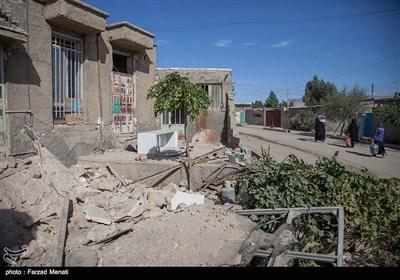 خسائر الزلزال فی قرى باطراف سربل ذهاب