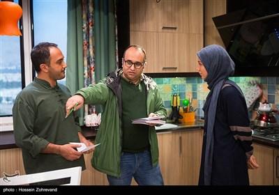 حدیث میرامینی ، مازیار میری و احسان کرمی در پشت صحنه سریال هیات مدیره