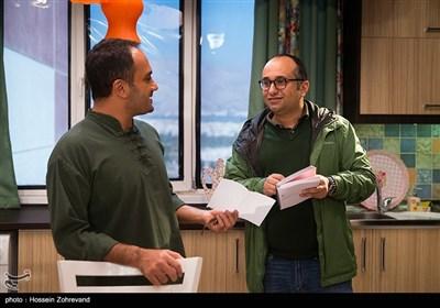 مازیار میری کارگردان سریال هیات مدیره و و احسان کرمی در پشت صحنه سریال هیات مدیره