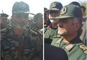 زلزله کرمانشاه/دیدار چهره به چهره فرماندهان ارتش و سپاه با مردم + تصاویر