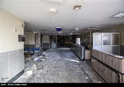 تخریب بیمارستان شهدای سرپل ذهاب