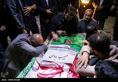 مراسم وداع با پیکر شهید مدافع حرم حبیب بدوی