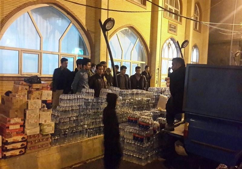 محموله موکبهای اربعین استان قزوین به مناطق زلزلهزده ارسال شد