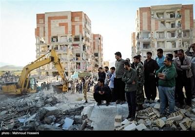 عملیات آوار برداری زلزله زدگان سرپل ذهاب