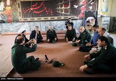 سردار جعفری فرمانده سپاه پاسداران در مناطق زلزله زده