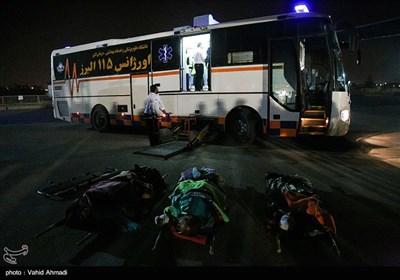 پنجمین گروه از مصدومان زلزله کرمانشاه وارد فرودگاه مهرآباد شد