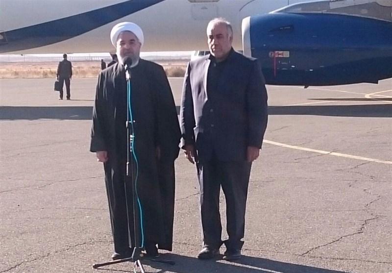 Iranian President Rouhani Visits Quake-Hit Regions