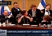 رفتارهایی که تنها در پارلمان رژیم صهیونیستی خواهید دید+فیلم