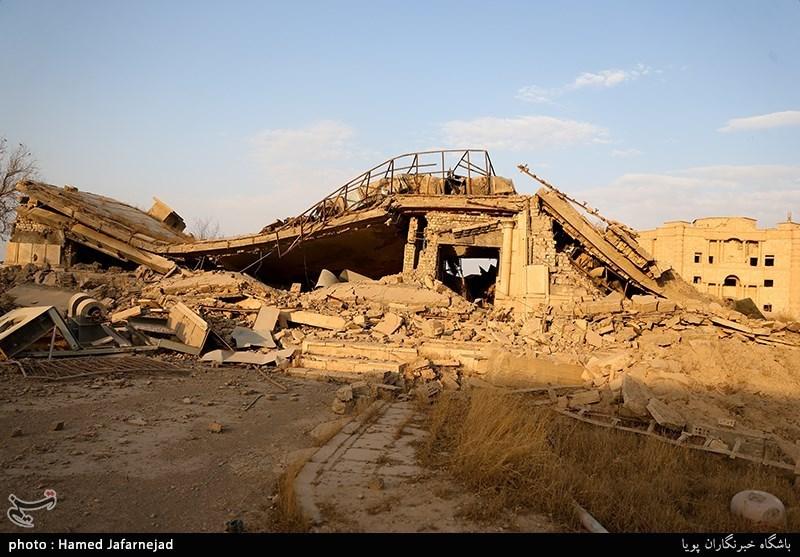 کاخ صدام پس از فرار داعش