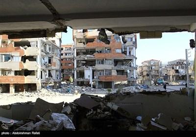 خسائر ناجمة عن الزلزال فی منطقة سربل ذهاب