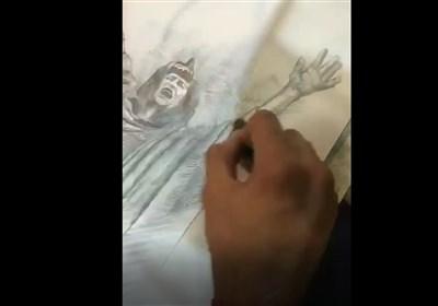 طراحی با نوایِ «هوره» برای همدردی با زلزلهزدگان کرمانشاه+ فیلم