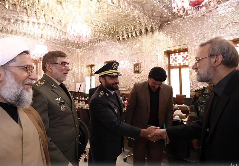 دیدار فرماندهان ارتش با لاریجانی + تصاویر -  Tasnim